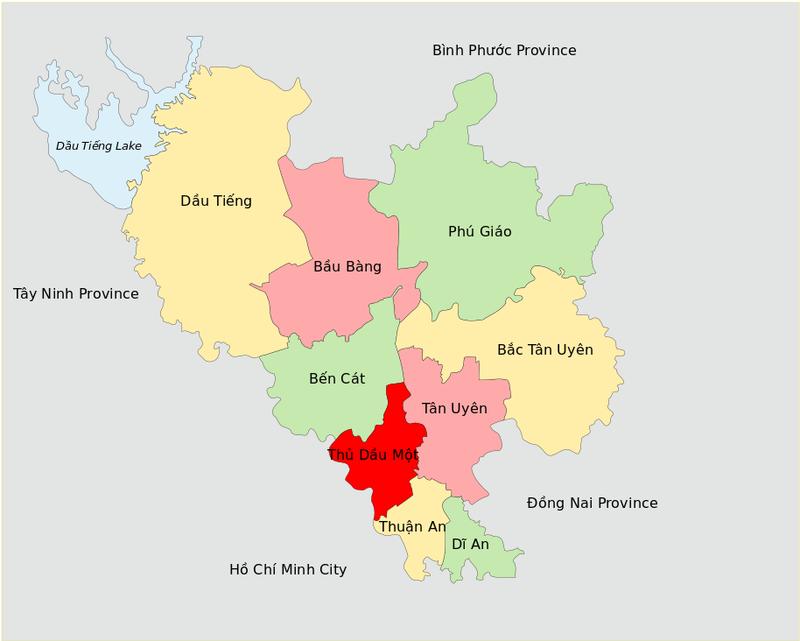 Binh Duong map
