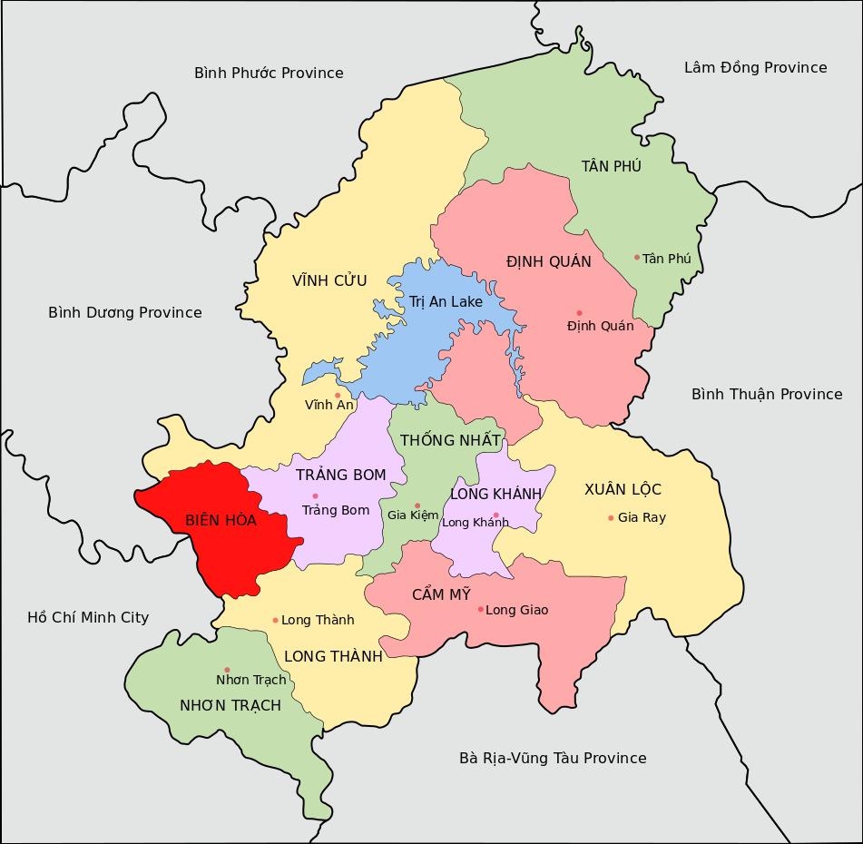Dong Nai Map